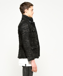 OPAL PROCESSING MILITARY JACKET [BLACK]