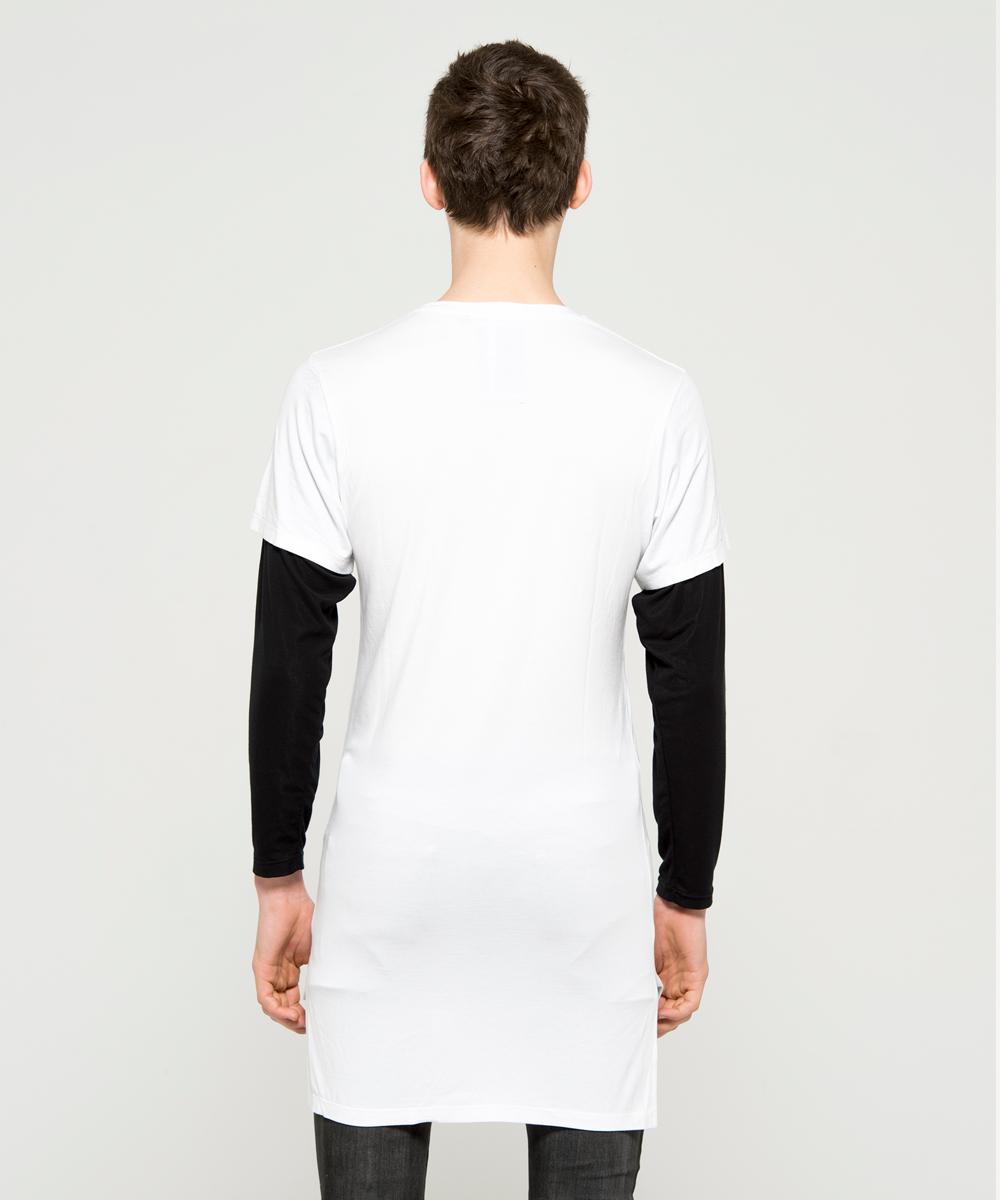 SPRAY LOGO LAYERED L/TEE [WHITE]