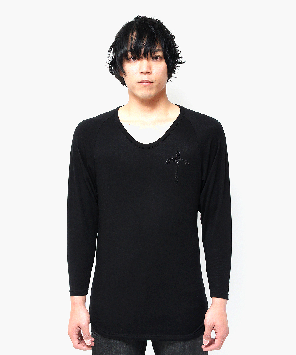 BACK METAL RAGLAN SLEEVE TEE