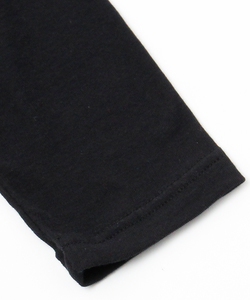 BACK NECK PRINT LAYERED L/TEE [BLACK]
