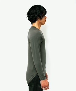 BACK METAL RAGLAN SLEEVE TEE [KHAKI]