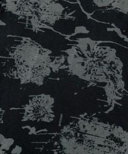 MELTED FLOWER LAYERED L/TEE [BLACK]