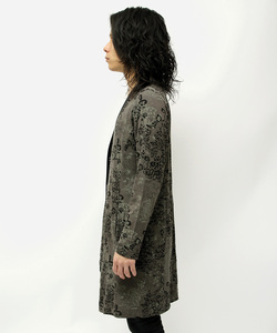ARCH LOGO BACK METAL LEOPARD CARDIGAN [CHARCOAL]