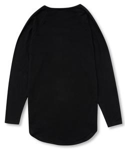 PRINT RAGLAN SLEEVE TEE [BLACK]