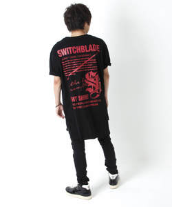 LIGHT SHINE TEE [BLACK x RED]