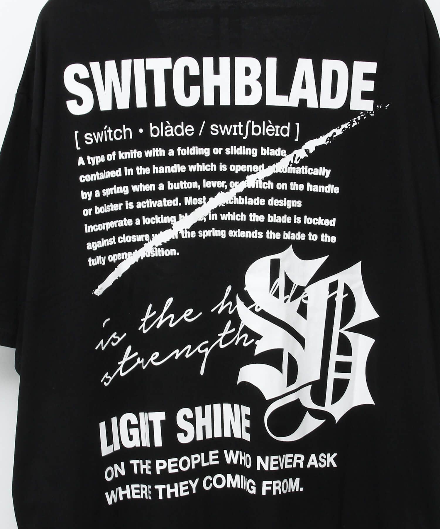 LIGHT SHINE TEE [BLACK]