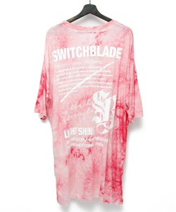 LIGHT SHINE DYEING TEE [RED]
