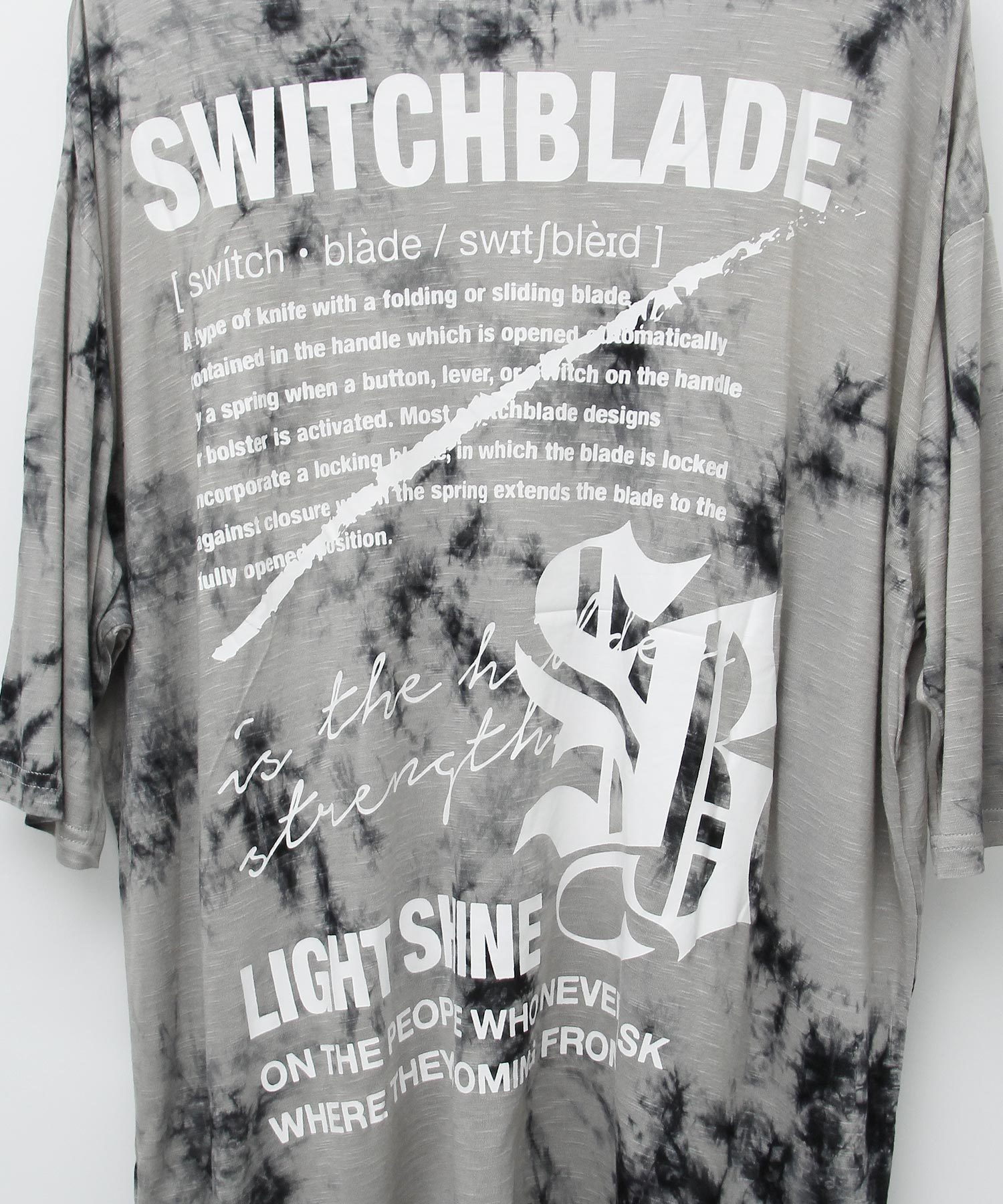LIGHT SHINE DYEING TEE [BLACK]