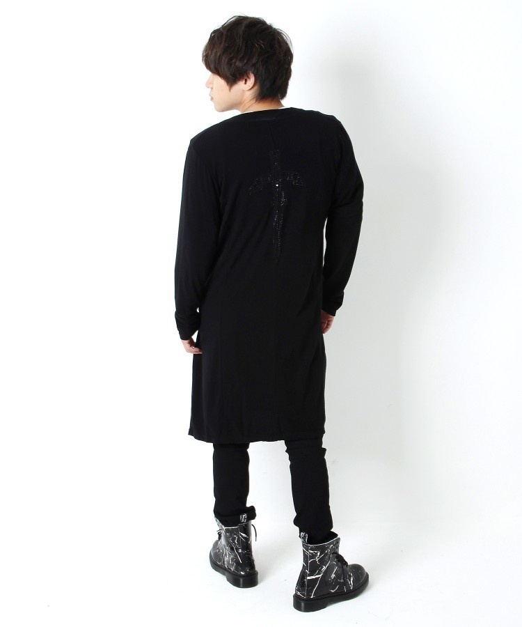 ARCH LOGO BACK METAL CARDIGAN