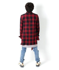 BACK METAL CHECK SHIRT [RED]
