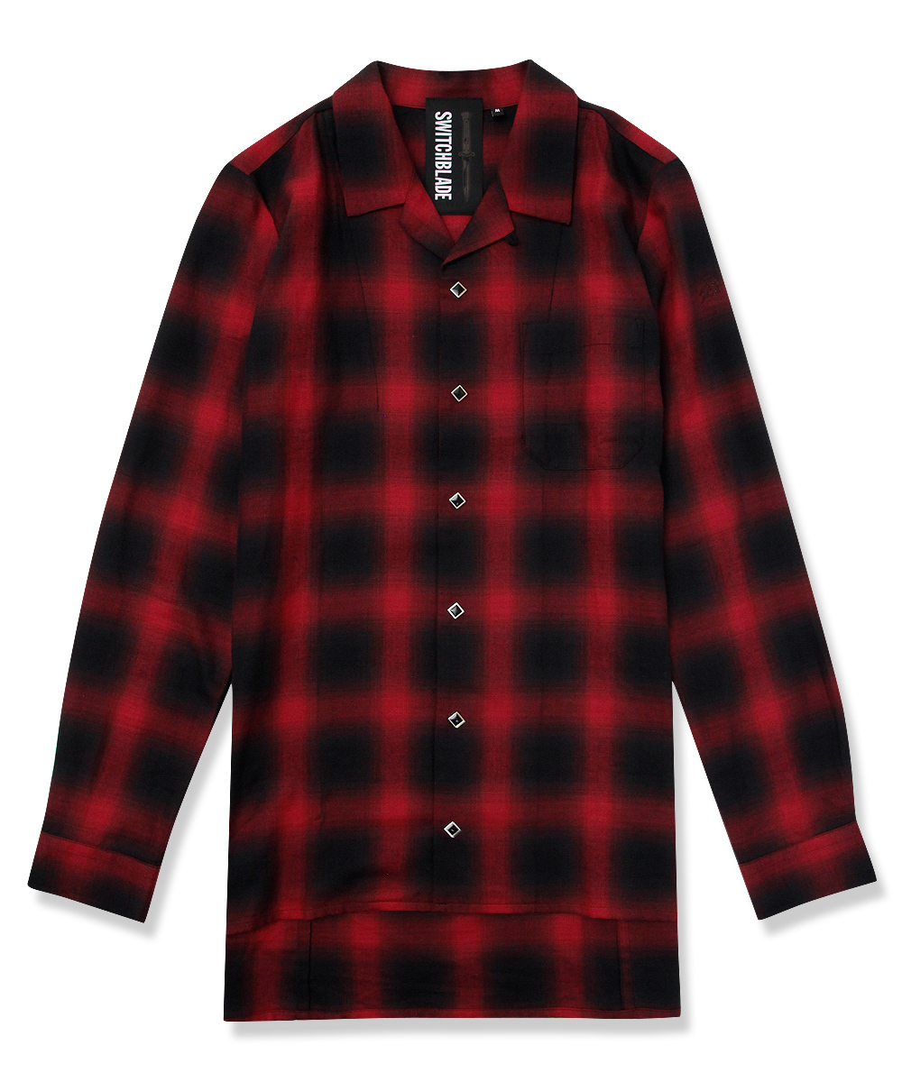 BACK METAL CHECK SHIRT [RED]