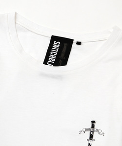 EMBROIDERY LAYERED L/TEE [WHITE]