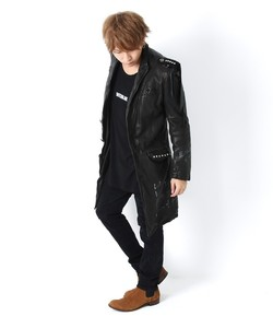 SPECIAL REMAKE LEATHER LONG JACKET