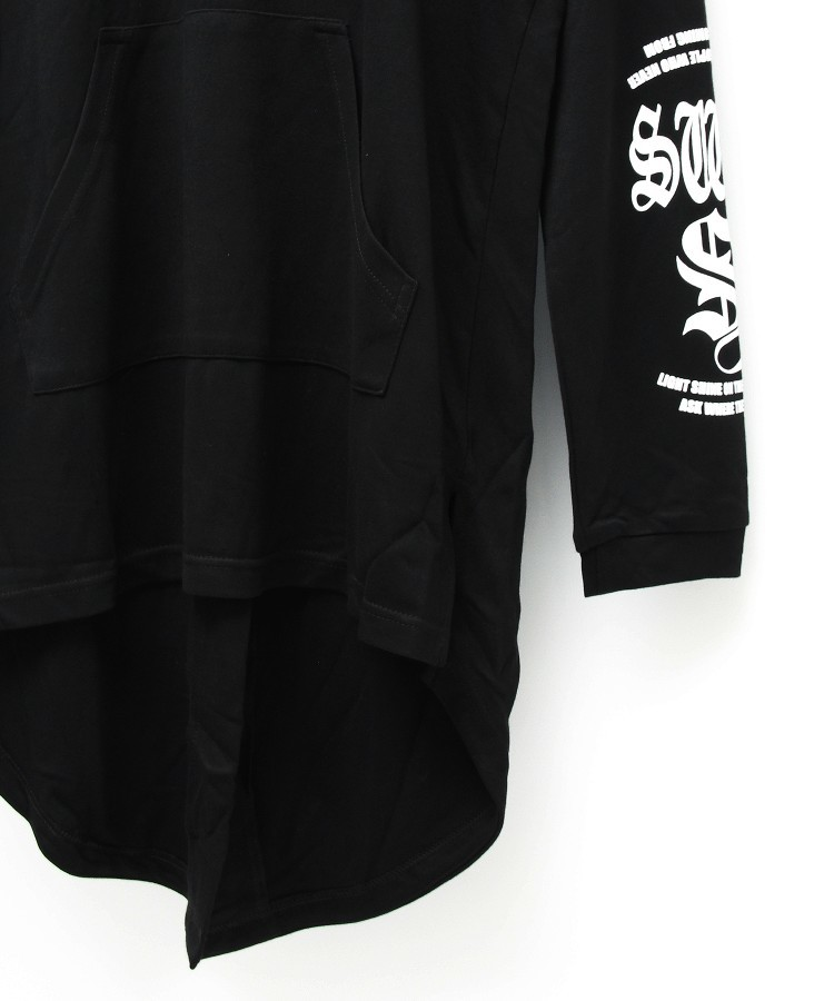 SWBL PULLOVER LONG PARKA [BLACK]