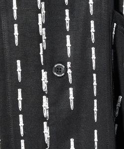 KNIFE PIN STRIPE LONG SHIRT [BLACK x WHITE]