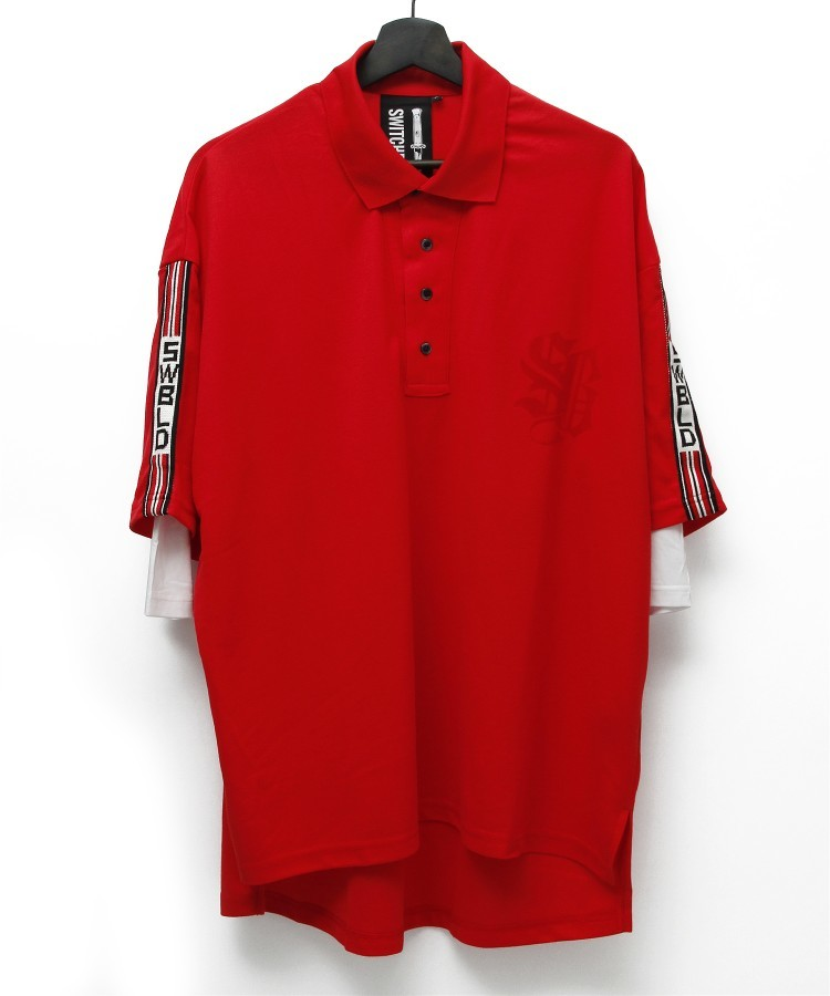 SWBLD LINE POLO SHIRT [RED]