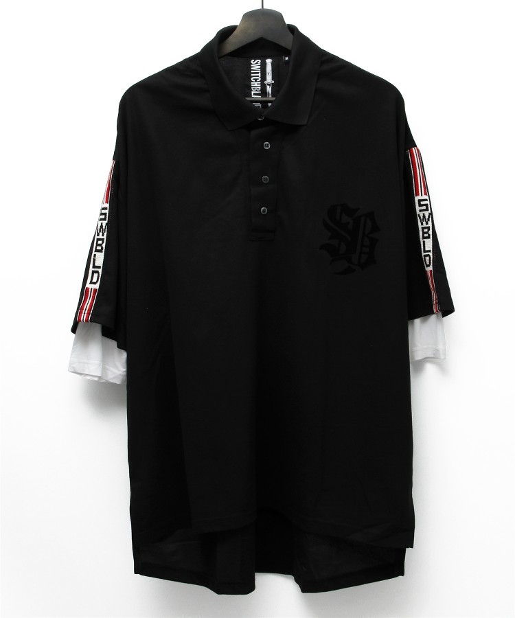 SWBLD LINE POLO SHIRT [BLACK]