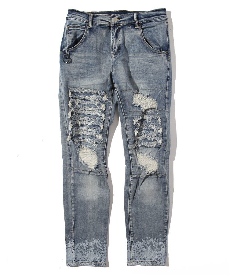 CRASH REMAKE SNAKE PRINT DENIM PT