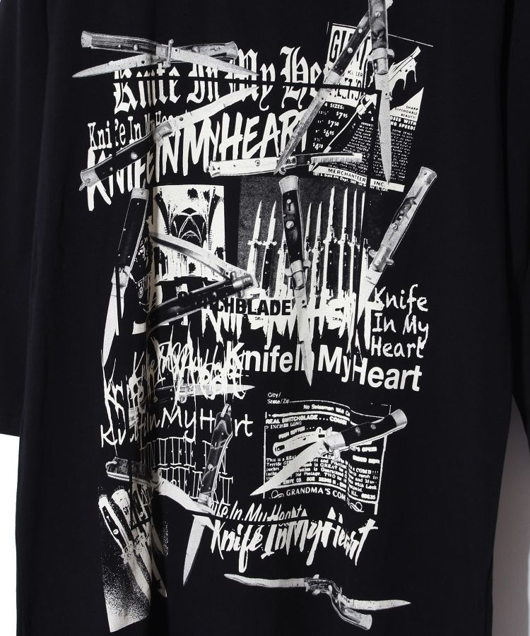 KNIFE IN MY  HEART L/TEE(BLACK)