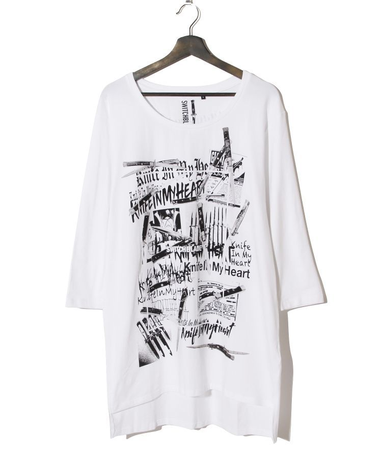 KNIFE IN MY  HEART L/TEE(WHITE)