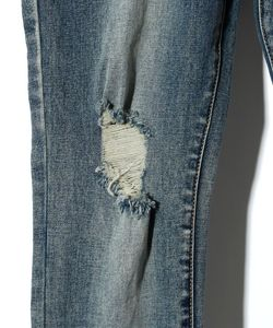 SNAKE PRINT DENIM PT(LADY'S)