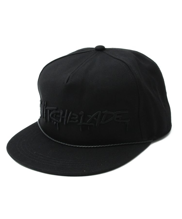 SB SPRAY LOGO CAP(BLACKxBLACK)