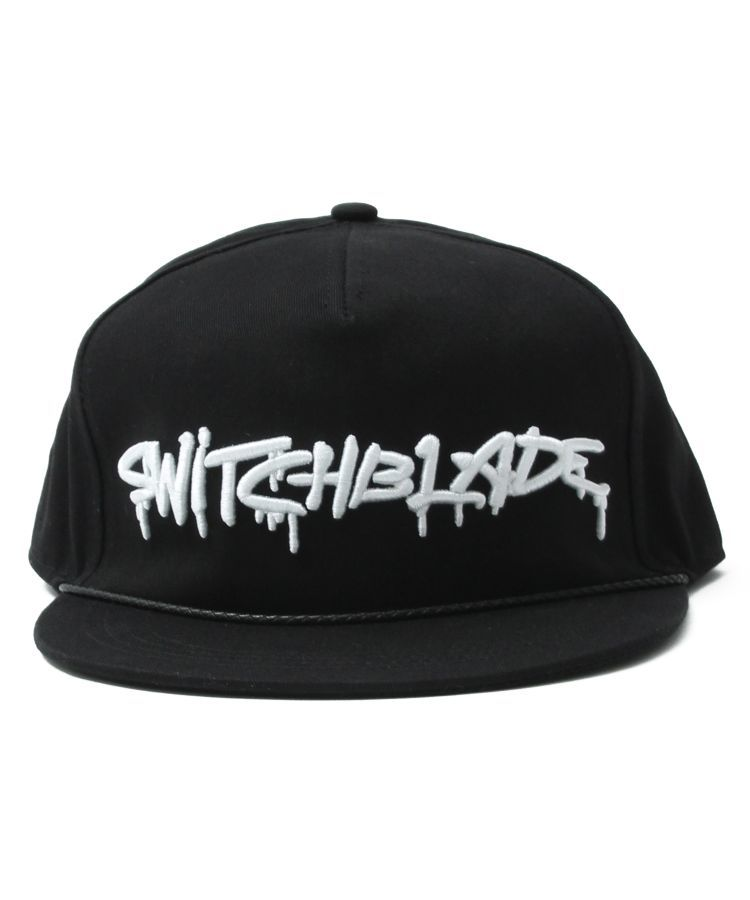 SB SPRAY LOGO CAP(BLACKxWHITE)